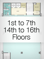 1st to 7th Floors & 14th to 16th Floors